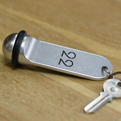 Key holder Créo-Alu ball silver silver recto