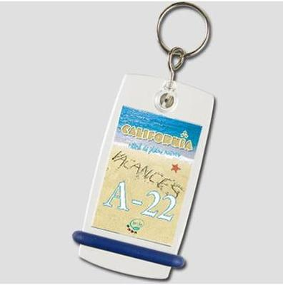 Keychain Mini Créoglass - Key ring Camping joint blue