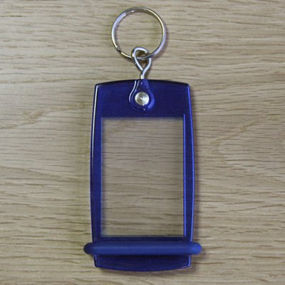 Keyring Mini Creoglass Color Blue Translucent X10