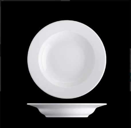Plate deep Bayern rund shape - Hotels and restaurants about 9 inch ( 22cm)