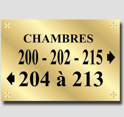 Signage Brass - Directional double plate