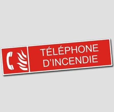 Signage Fire - Plate Fire Telephone