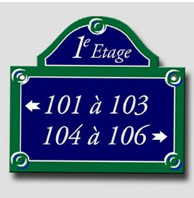 Signage plate of Paris - Directional double panel
