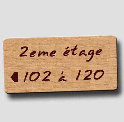 Wood imitation signage - Directional single plate